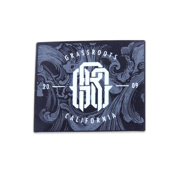GRC Monogram Small Rectangle Black Sticker - Grassroots California