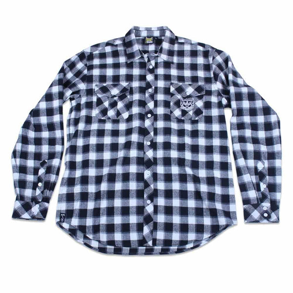 Bassik Stasik TBird Black White Flannel - Grassroots California - 1