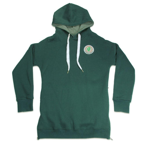 San Pedro Del Sol Side Zip Green Hoodie - Grassroots California - 1