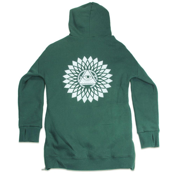 San Pedro Del Sol Side Zip Green Hoodie - Grassroots California - 2