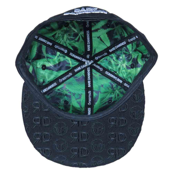 Rare Dankness Metal Embroidered Brim Fitted - Grassroots California - 2