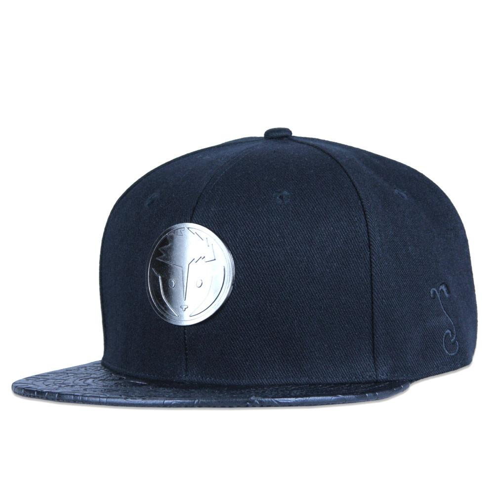 Rare Dankness Metal Leather Brim Snapback