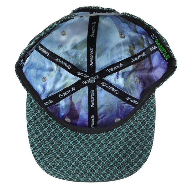 Removable Bear Aquamarine Snapback
