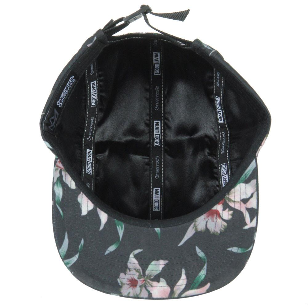 Good Livin Floral Black Pink 5 Panel Strapback