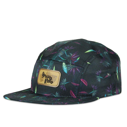 Tropicali Leather 5 Panel Strapback