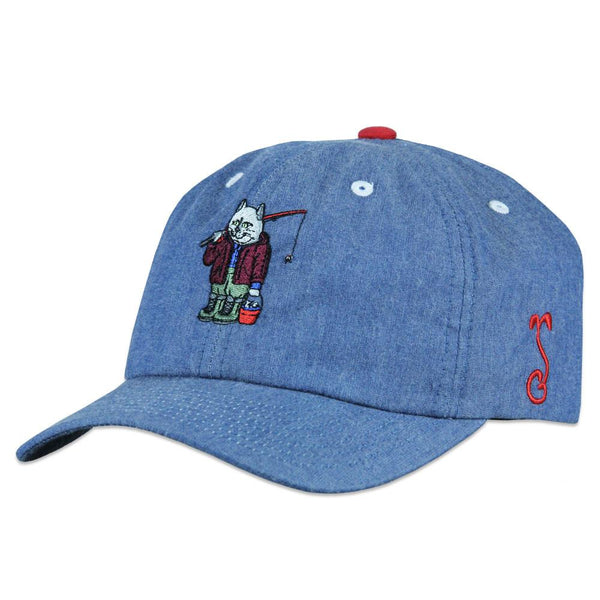 Leisure Cat Denim Dad Hat
