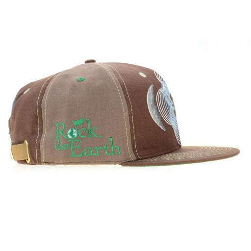Rock The Earth Brown Strapback