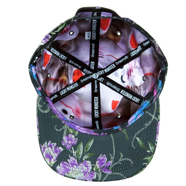 Lucky Cat Purple Snapback