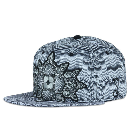 Ibiza Psychedelic Black White Fitted