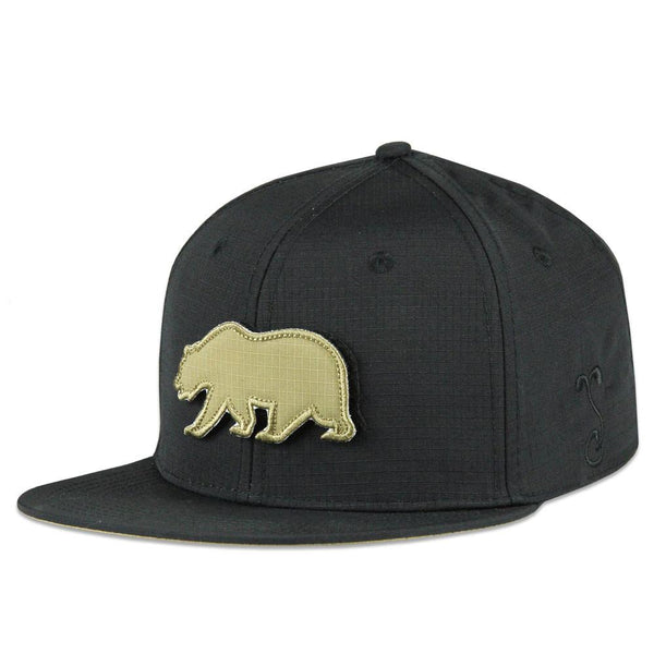 Removable Bear Asphalt Snapback