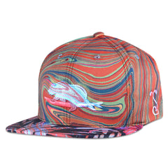 BL Visuals Classic Floral Surfing Bear Snapback