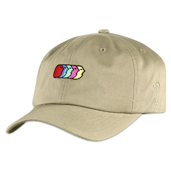 Jerry Garcia Airbrush Cards Tan Dad Hat