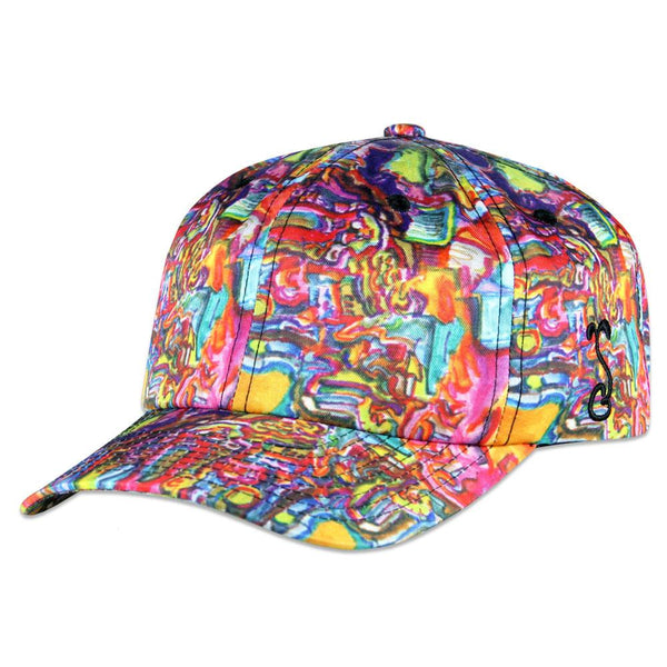 Jerry Garcia Dripping Graffiti Allover Dad Hat