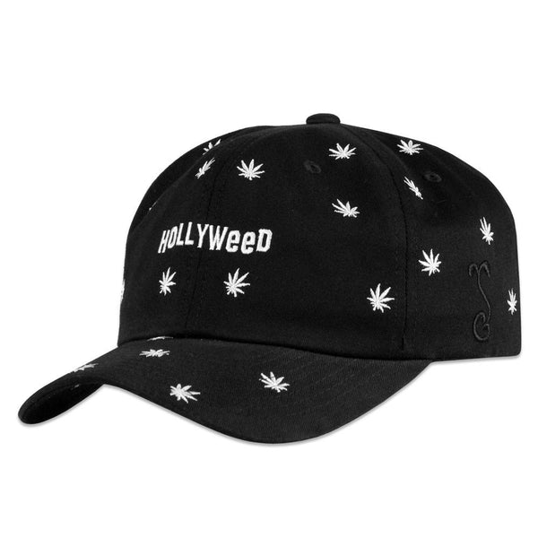 Hollyweed Black White Dad Hat