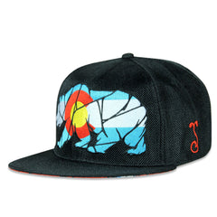Colorado Mosaic Bear Black Snapback
