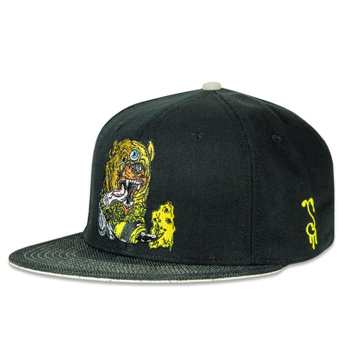 Aaron Brooks Bear Bee Black Fitted