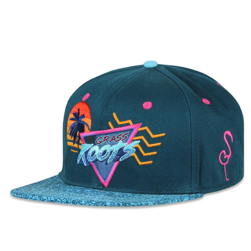 Cali Vice Roots Blue Snapback