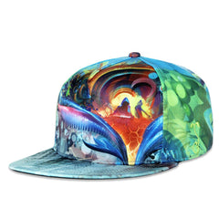 Android Jones Birds of Paradise Blue Fitted