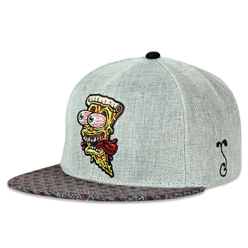 Jimbo Phillips Screaming Pizza Gray Fitted