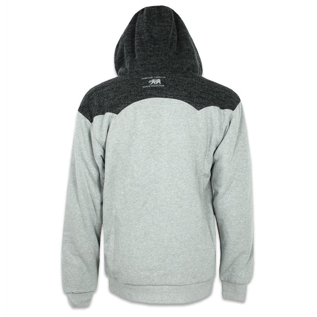 Knit Gray Removable Bear Zip Up Hoodie