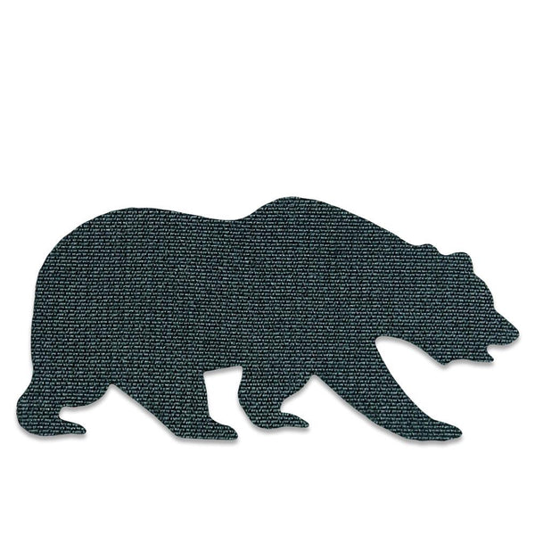 Silver Holographic Removable Bear Patch