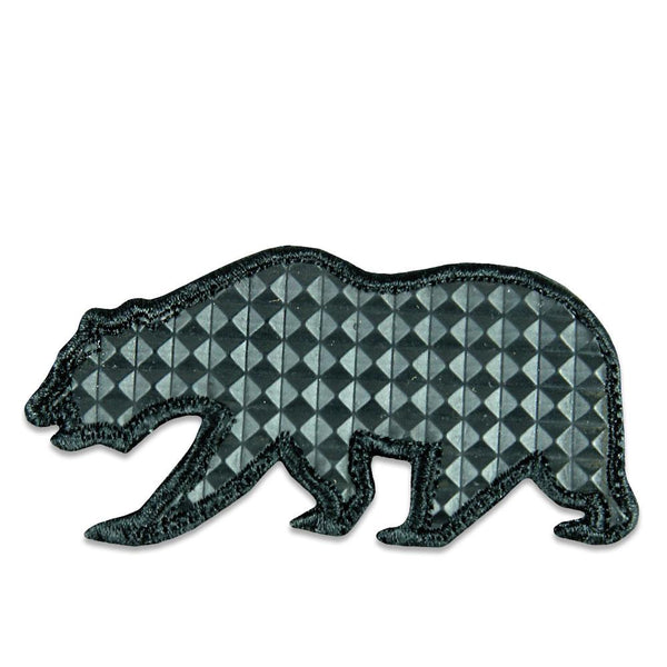 Spiked Black Removable Bear Patch
