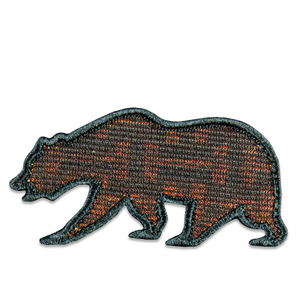 Geometric Iridescent Removable Bear Patch