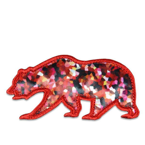 Red Crystal Removable Bear Patch