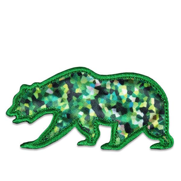 Green Crystal Removable Bear Patch