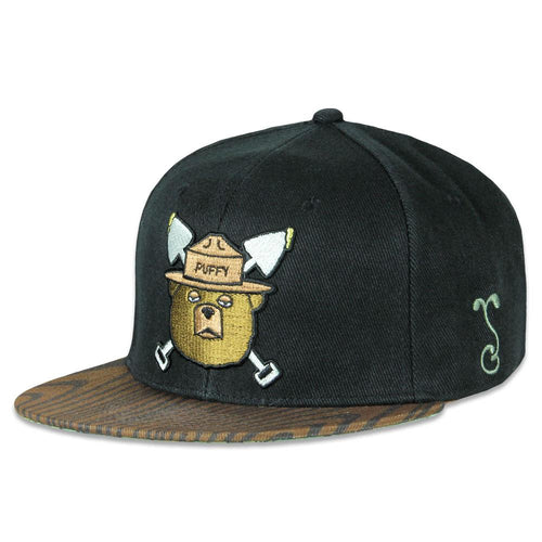 Puffy The Bear Black Fitted