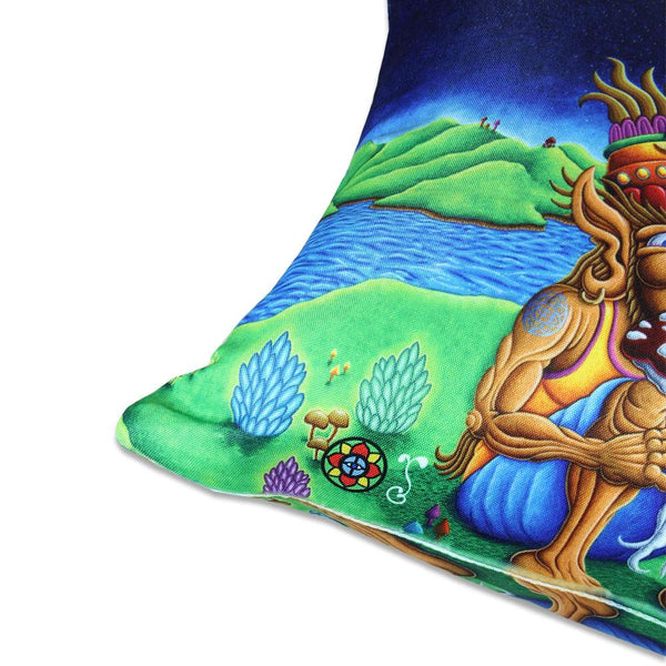 Chris Dyer Muncher of Mushroomland Pillow