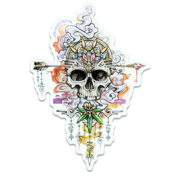 Reverie Ink Skull Sticker