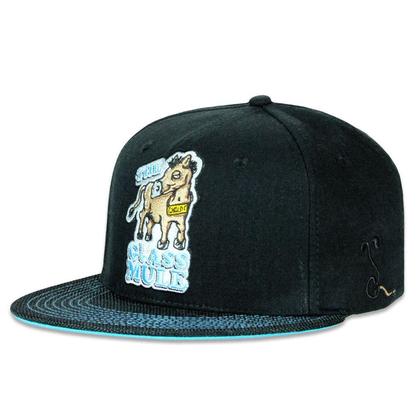 The Glass Mule Black Snapback