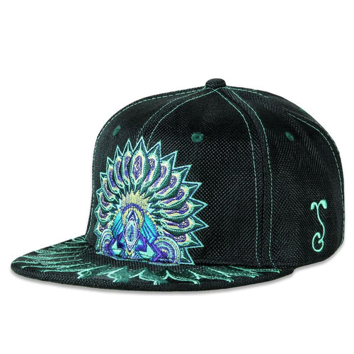 Psychedelic Aztec Black Fitted
