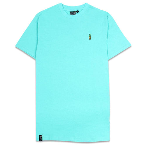 Pineapple Embroidered Seafoam T Shirt
