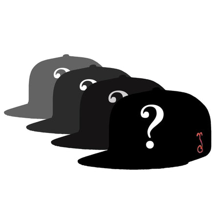 Kris D Bear Black Fitted Hat