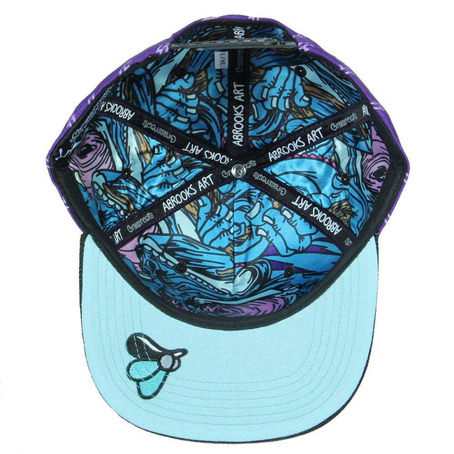 Aaron Brooks Removable Chameleon Purple Snapback