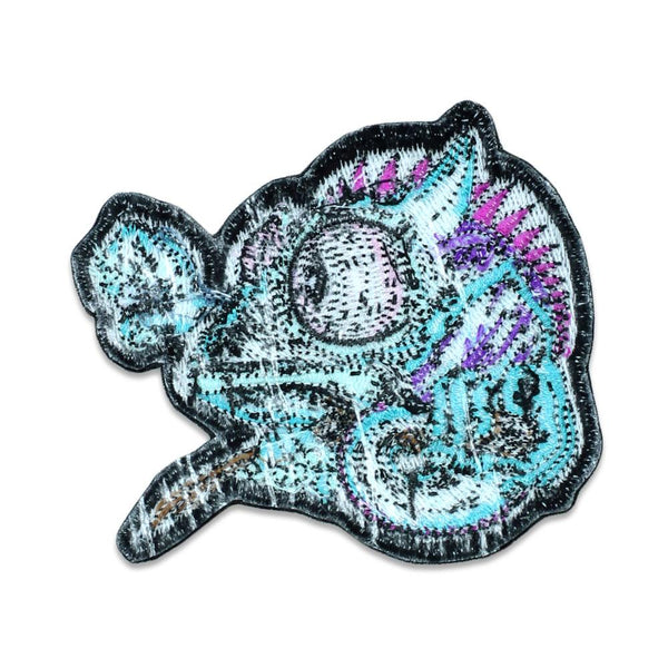 Aaron Brooks Teal Chameleon Iron-On Patch