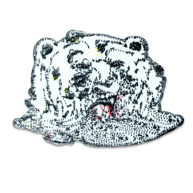 Aaron Brooks Melty Bear White Iron-On Patch