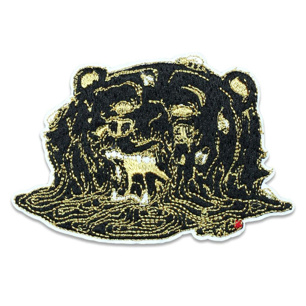 Aaron Brooks Melty Bear Black Iron-On Patch