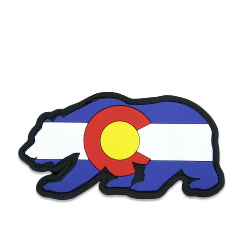 Colorado Flag Rubber Removable Bear Patch