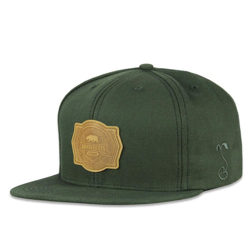 Made in USA Cali Crest Olive Snapback