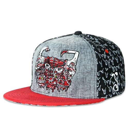 Melty Bros Bulls Drip Black Fitted