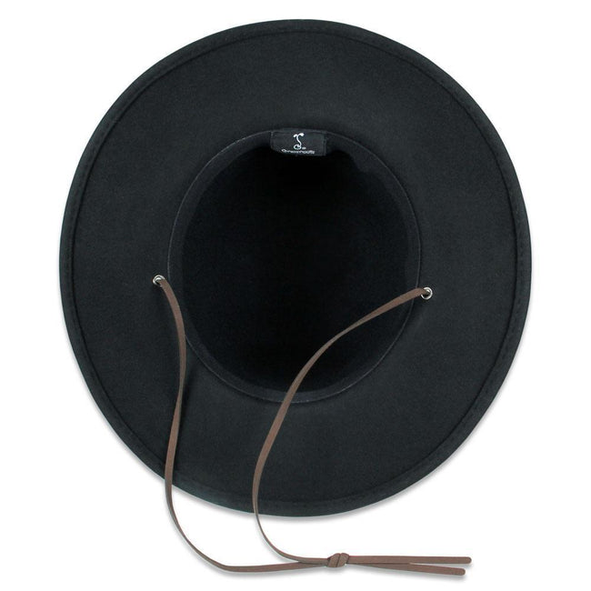 Black Wool Aspen Hat