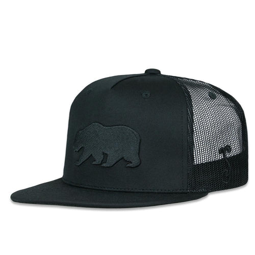 Dri-Bear Black Out Mesh Snapback Hat