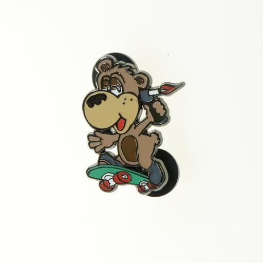 710 Cup Skateboarding Bear Pin