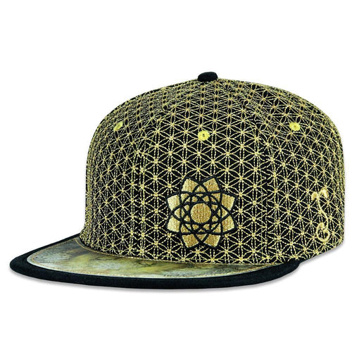 Laser Guided Visions Gold Black Snapback Hat