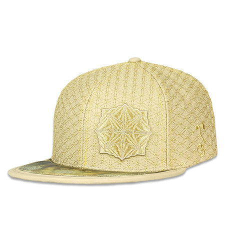 Neon Glitch White 7 Panel Zipperback Hat