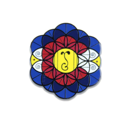 Coloflower of Life Pin - Grassroots California - 1