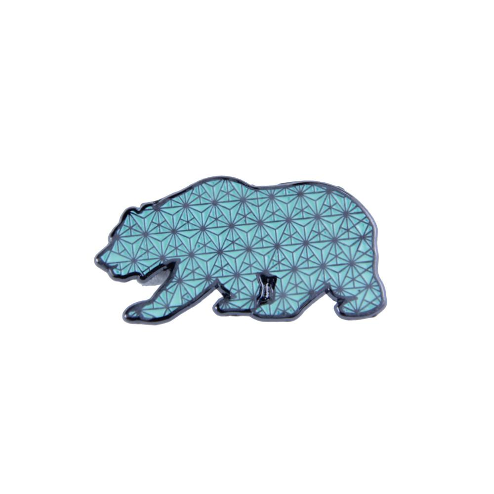 Sacred Geometry Bear Glow Pin - Grassroots California - 1